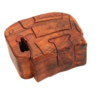 Puzzle box elephant wooden