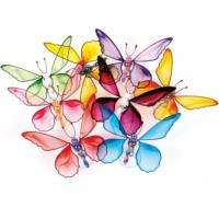 Pack of 48 assorted Rainbow butterflies
