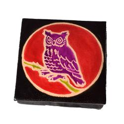Leather coin purse owl