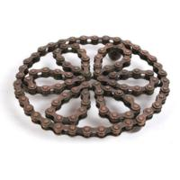 Trivet recycled bike chain