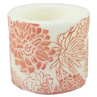 Candle Japanese chrysanthemum ombre + white, 10cm recessed