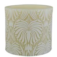 "Candle lotus flower white + ivory, 10cm"" recessed"