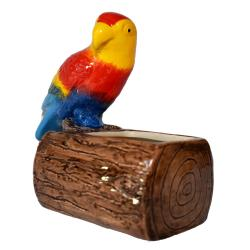 Candle box red parrot