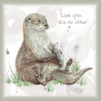 Greetings card, love you like no otter