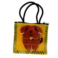 Zip purse, with handles, dog, assorted colours