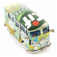 Campervan made from recycled cans 13cm