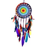 Dreamcatcher, rainbow colours, 22cm diameter