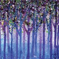 "Greetings card ""Bluebells & Blossom"" 16x16cm"