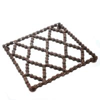 Trivet, recycled bike chain