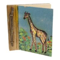 Notebook, sand painting, giraffe