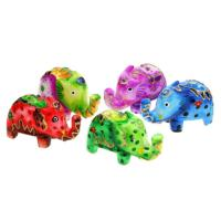 Colourful wooden elephant 10cm
