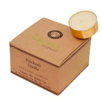 12 t-lite scented candles, Organic Goodness, Patchouli Vanilla