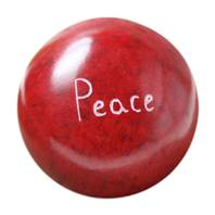 Palewa sentiment pebble, red - Peace