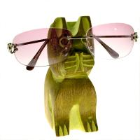 Spectacle stand, mango wood, dog green