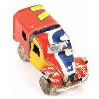Mini truck made from recycled cans 3.5cm