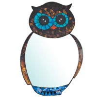 Small Owl Mirror Mosaic