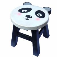Child's wooden stool, panda