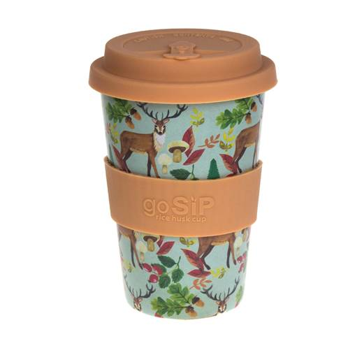 Rice husk cup 14oz, stags
