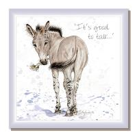 "Greetings card, ""It's good to talk"", African Wild Donkey"