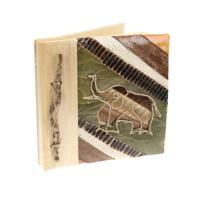 Leaf notebook 16x16cm elephant