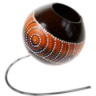 Coconut shell thunder spring drum, 10cm