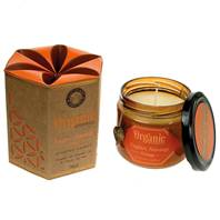 Soy candle Organic Goodness, Nagpuri Narangi Orange, in glass jar
