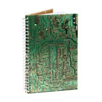 Notebook, recycled circuit board, 13x20cm