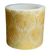 Candle lotus flower gold + white, 15cm lantern