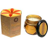 Soy candle Organic Goodness, Mysore Chandan Sandalwood, in glass jar