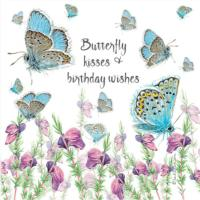 Greetings card, butterfly kisses