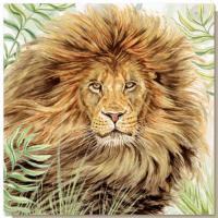 Greetings card, lion