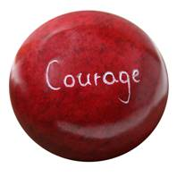 Palewa sentiment pebble, red - Courage