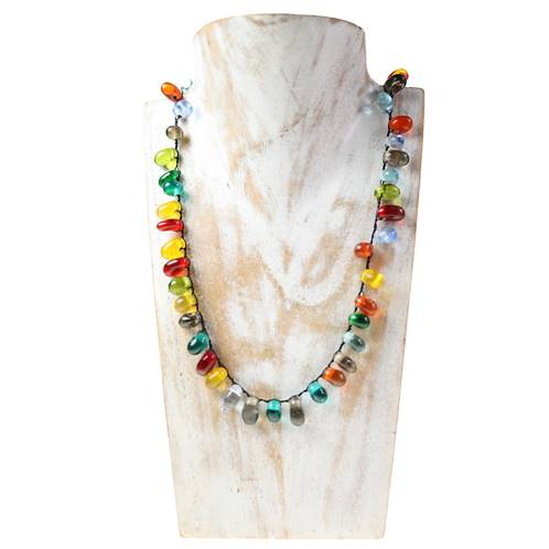 Necklace, multicoloured beads