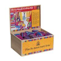 Worry dolls x 6 in embroidered box asst cols (box of 60)