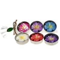 Pack of 3 asstd large t-lites, frangipani