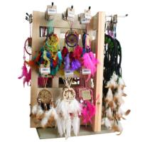 Dreamcatchers assorted with wooden display stand