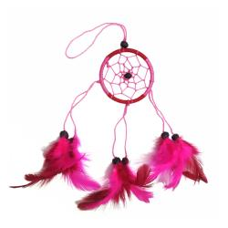 Dreamcatcher pink & red 6cm