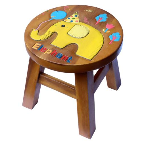 Child's wooden stool, elephant