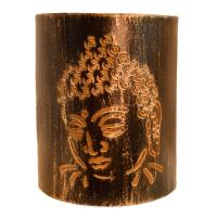 T-lite holder, metal die cut, Buddha head, 15cm height