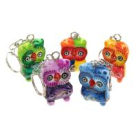 Set of 5 owl keyrings