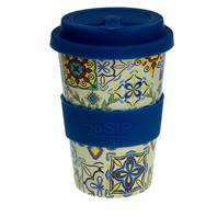 Rice husk cup 14oz, tiles - Cadiz