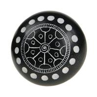 Sentiment pebble, mandala, black
