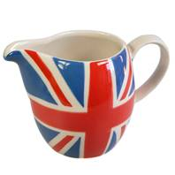 Union Jack painted ceramic milk jug