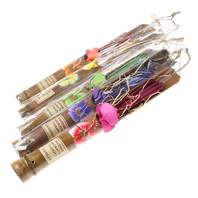 Incense sticks in bamboo holder x 5 asstd