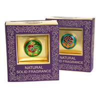 Solid perfume, 4g, in brass jar, gift boxed, assorted scents
