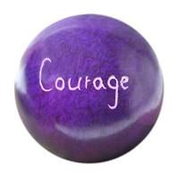 Palewa sentiment pebble, purple - Courage