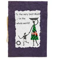 "Card ""To the very best Mum"", purple"