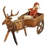 Christmas decoration, Santa on sleigh with reindeer