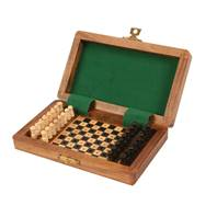 Wood travel chess set