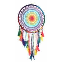 Dreamcatcher rainbow crochet 53cm diameter